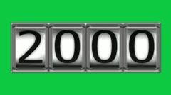 2000 on billboard - stock footage