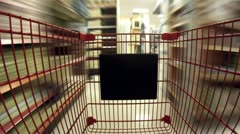 Shopping Cart POV Timelapse V2 - stock footage