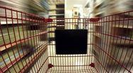 Shopping Cart POV Timelapse V2 Stock Footage