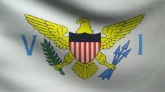 Virgin Islands flag. Stock Footage