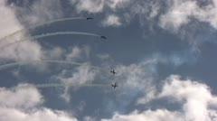 Jet airplanes performing aerobatics Stock Footage