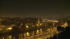 Timelapse Rome (NYE) city shot Stock Footage