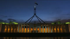 Stock Video Footage of Parliament House Canberra time lapse