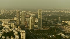 Tel Aviv day view pan 5 Stock Footage