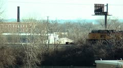 Train moving through the city. Stock Footage