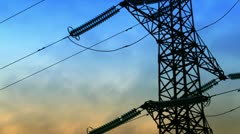timelapse electricity - stock footage