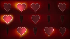 Red  Wedding Heart Background Stock Footage