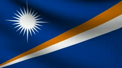 Marshall islands flag. Stock Footage