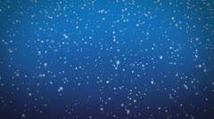 Snow fall fullHD loopable background Stock Footage