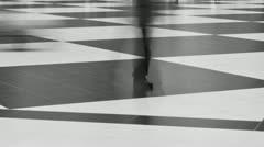 Busy people walking timelapse.motion blur - stock footage
