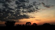Timelapse of clouds around Angkor Wat at sunset Stock Footage