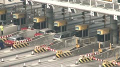 Toll Gate Traffic On Highway - stock footage