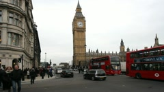 Double Deckers at Big Ben Stock Footage