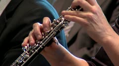 Clarinet close up played by a woman Stock Footage