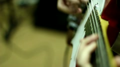 Guitar, Guitar Bass and Drums Stock Footage