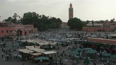 Djemaa el Fna Square,Marrakech,Morocco Stock Footage