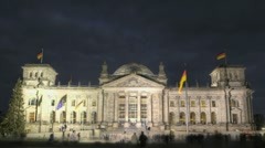 Reichstag Berlin Stock Footage