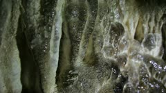 Stalactites in cave Stock Footage