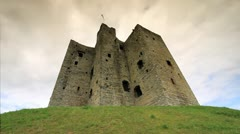 Trim Castle with Brooding Sky, Ireland GFHD - stock footage