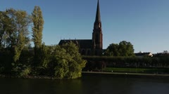 On The River Church 1 Stock Footage