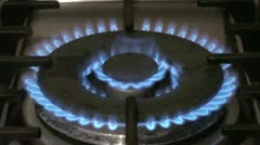 Large Gas Ring Stock Footage