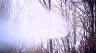 Stock Video Footage of Snowmaking with a snow cannon - closeup