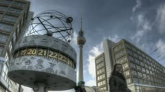Worldclock at Alexanderplatz Stock Footage