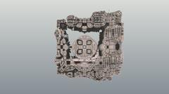 3D fractal VJ loop - Menger Tunnel Stock Footage