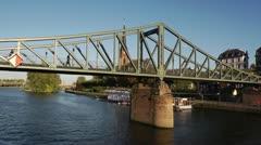 Frankfurt Main River Walkway Activity 4 Stock Footage