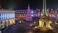 Timelapse 1080p: New Years' Day in Kiev, Ukraine Stock Footage