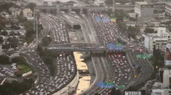 Tel Aviv day view traffic 1 Stock Footage