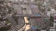 Tel Aviv day view traffic 1 Stock Footage
