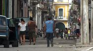 Stock Video Footage of Cuba Old Havana Street Life