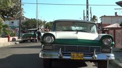 Old Classic American Cars In Cuba Stock Footage