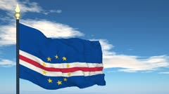 Flag Of Cabo Verde Stock Footage