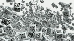 QR code Stock Footage