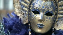 Close-up mask Venice Carnival Stock Footage