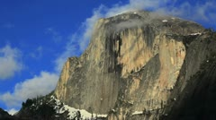 Half Dome in Yosemite National Park, California. - stock footage