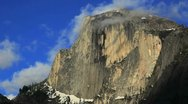 Half Dome in Yosemite National Park, California. Stock Footage