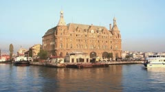 Historical Haydarpasa Station, Istanbul Stock Footage