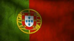Portugal flag. Stock Footage