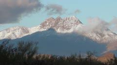 Four Peaks Snowcap - stock footage