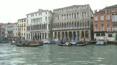 Gondola tour in Venice Stock Footage