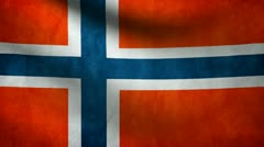 Norway flag. Stock Footage
