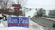 Stock Video Footage of Ron Paul 2008 presidential campaign yard sign