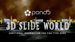 3D Slide World Stock After Effects