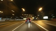 City Driving at Night Stock Footage