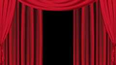 Theatre Curtain Opening Stock Footage