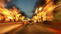 Stock Video Footage of Berlin City Night Driving Time Lapse
