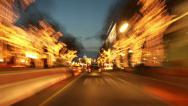 Berlin City Night Driving Time Lapse Stock Footage